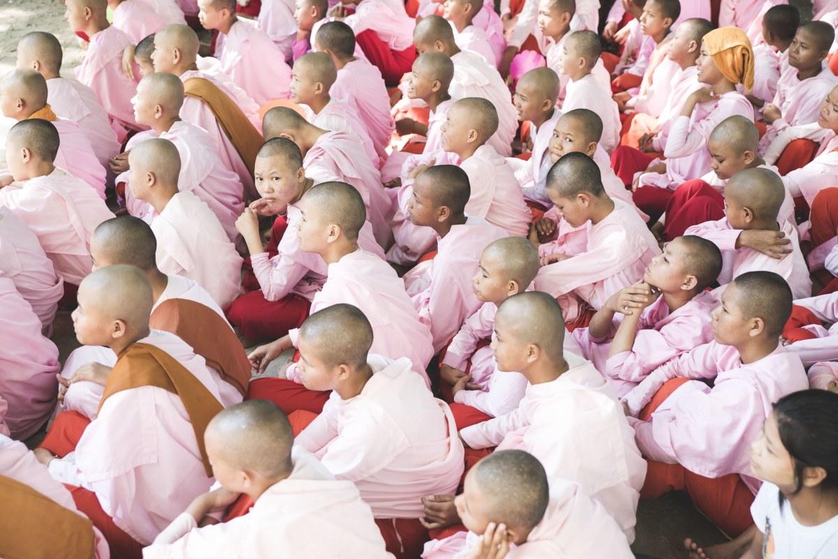 Baby Nuns at a Buddhist monastery school