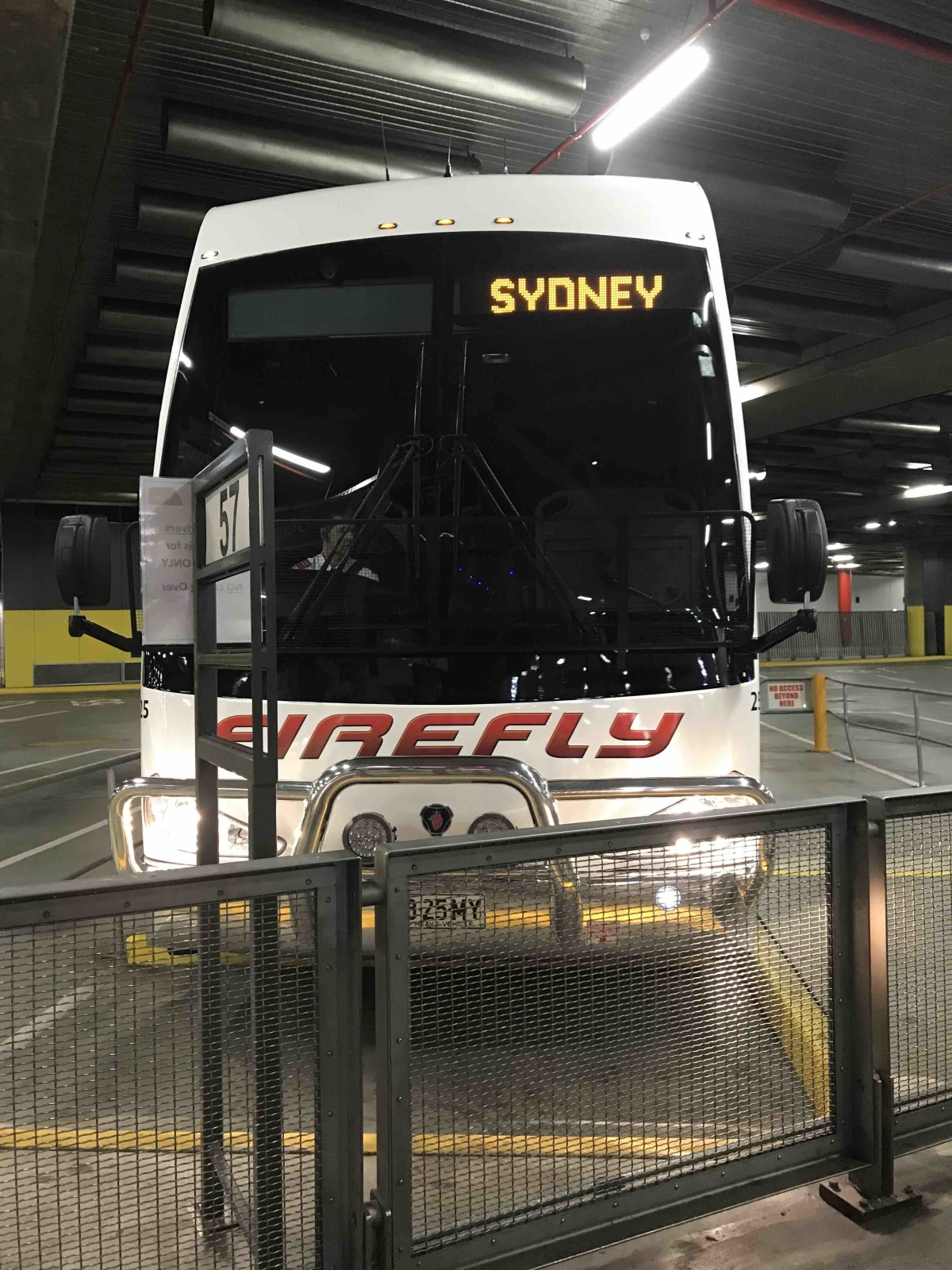 The bus we rode on from Melbournes to sydney