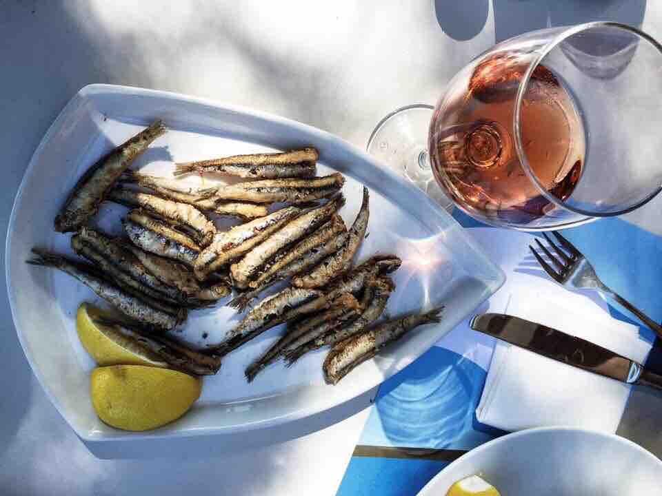Delicious food at Siparos.
