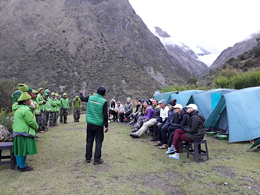 Meeting our incredible porters