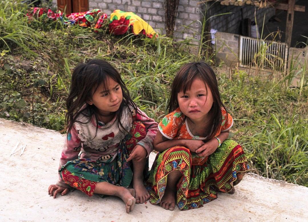 Beautiful kids belonging to a ethnic minority