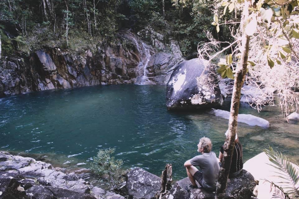 Swimming Hole Beneath The Waterfall