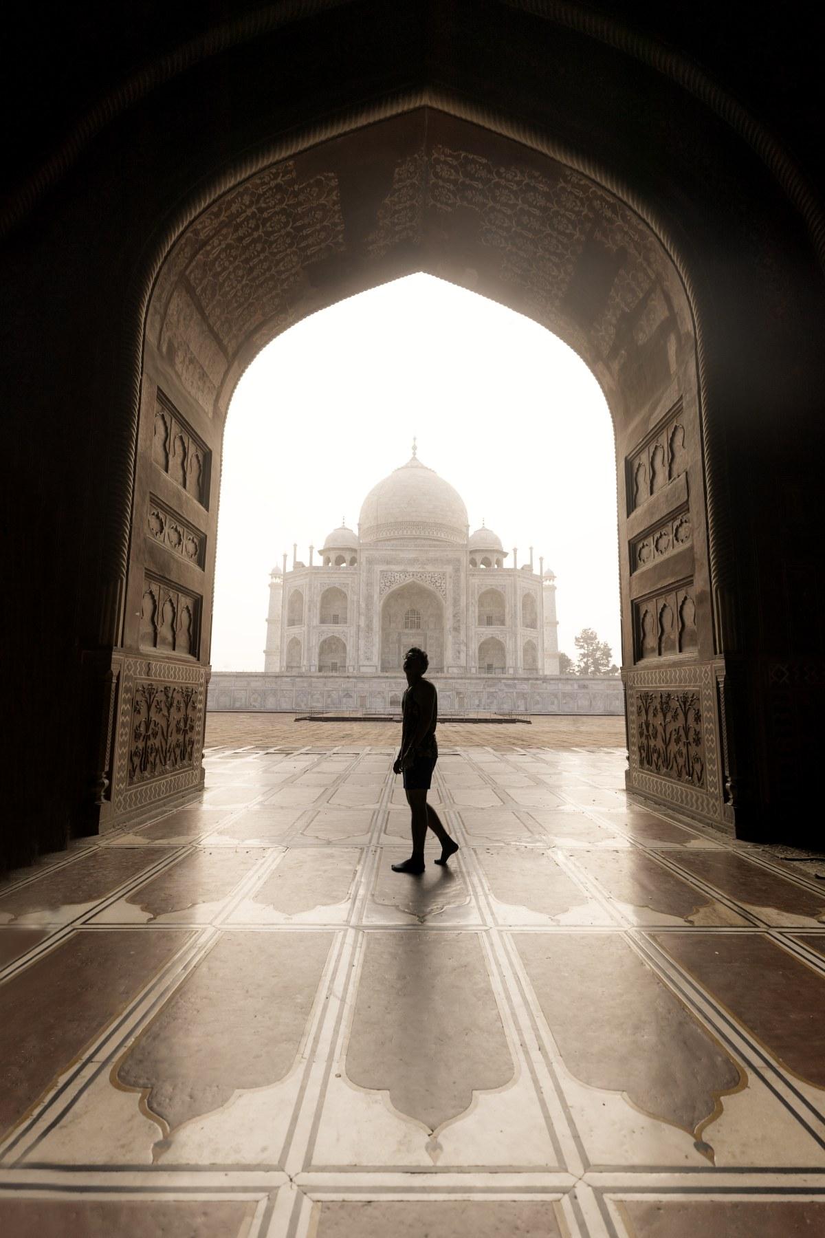 Taj view from Masjid by the side of it.
