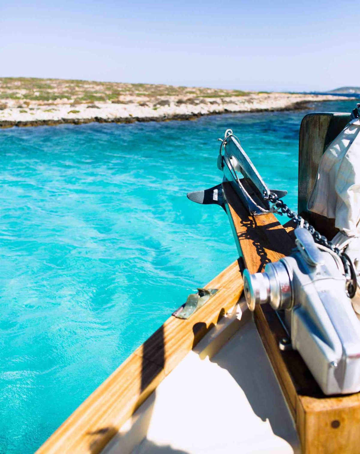 The blue waters of Anti Paros.