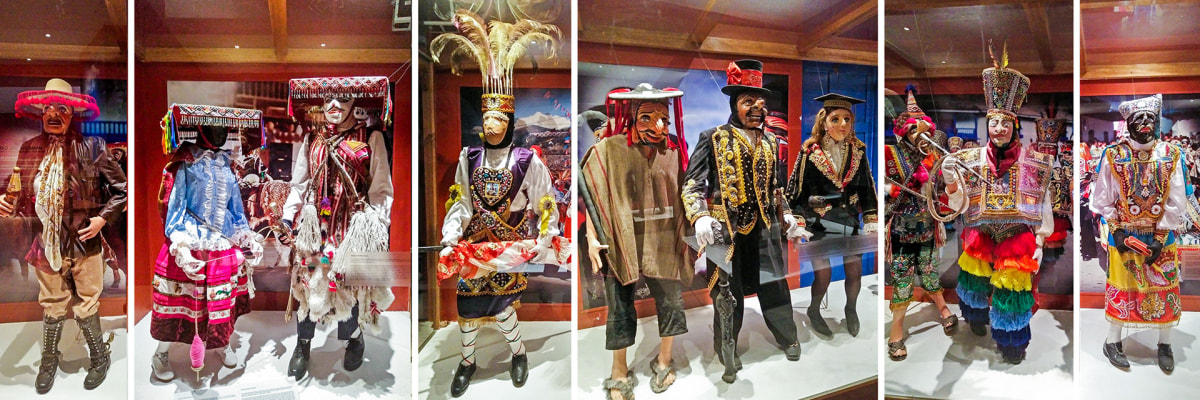 More typical dress of dancers exhibited at the museum