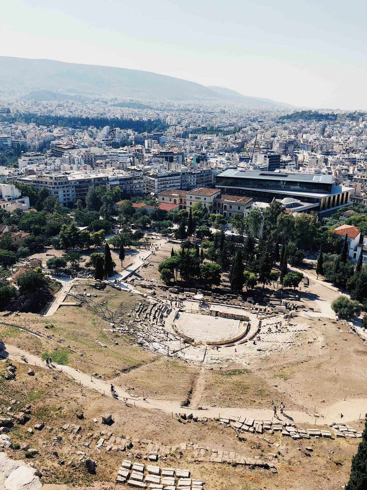 views from the top of the acropolis