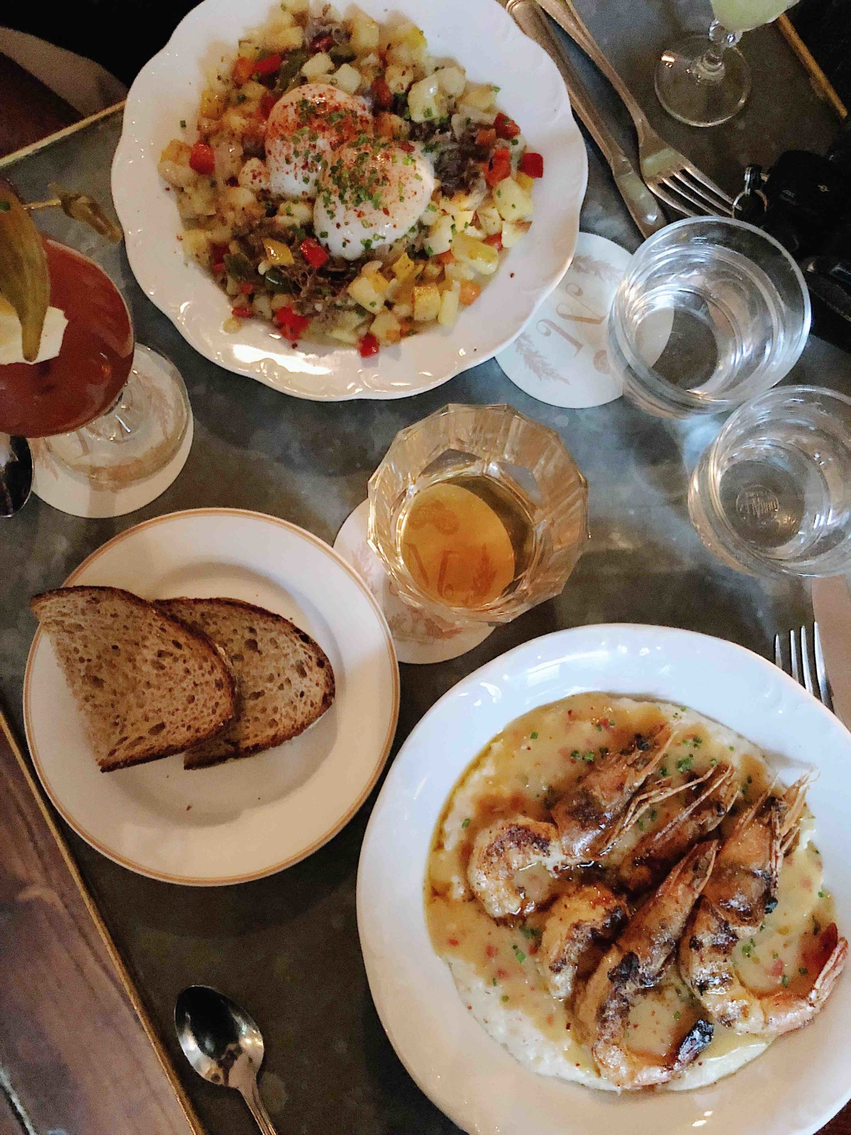 Joe and I love day drinking and brunching  on the weekends. Our go to place is almost always Maison Premiere, the brunch menu is so delicious. Please order the shrimp \x26 grits. Thank me later.