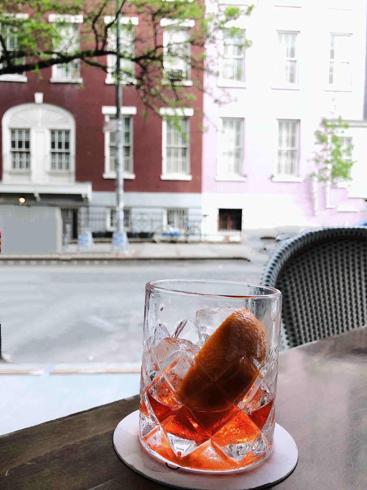Perfect spot to people watch and sip on an epic negroni .