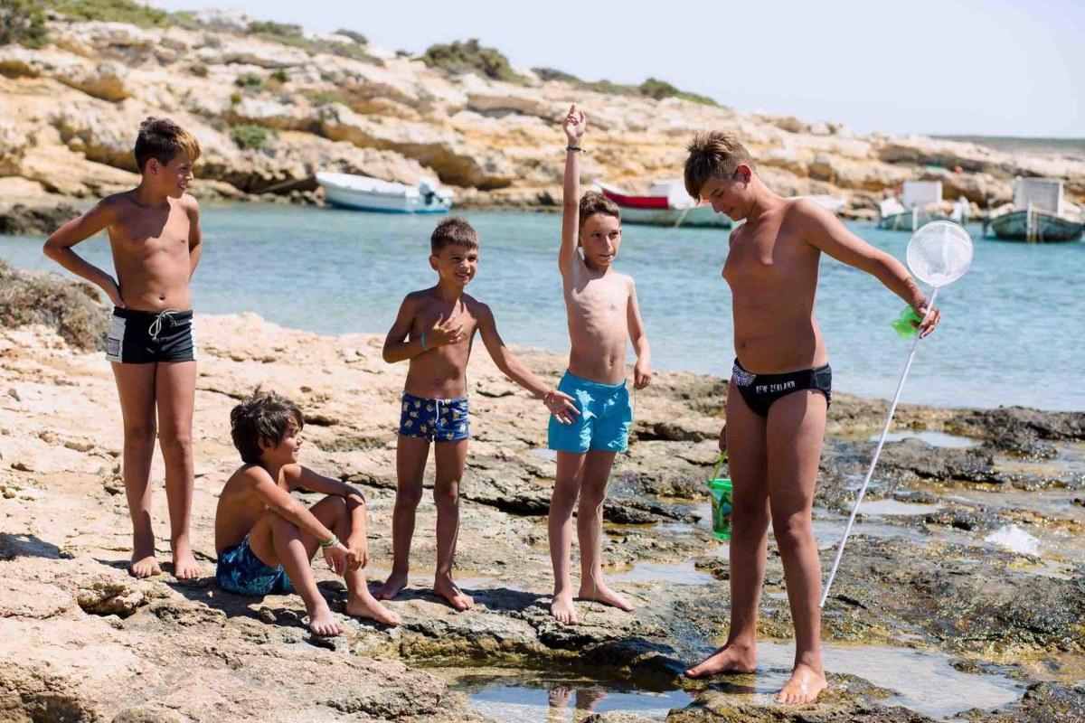 Local kids at Santa Maria Beach.