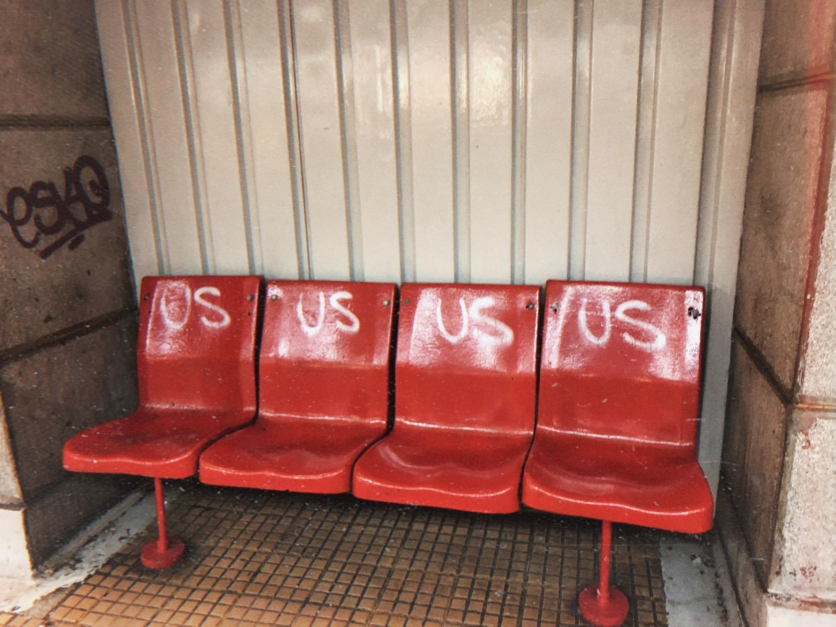 Metro station art