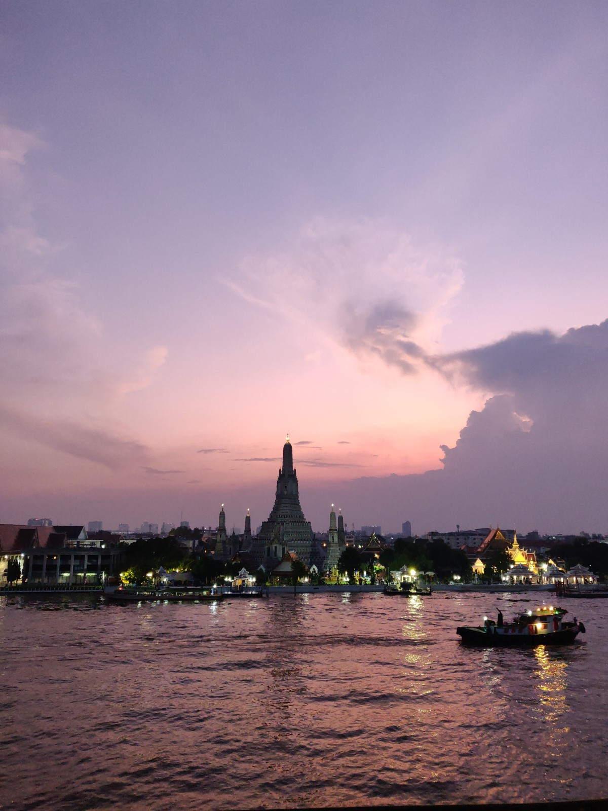 Sunset by Chao Phraya river