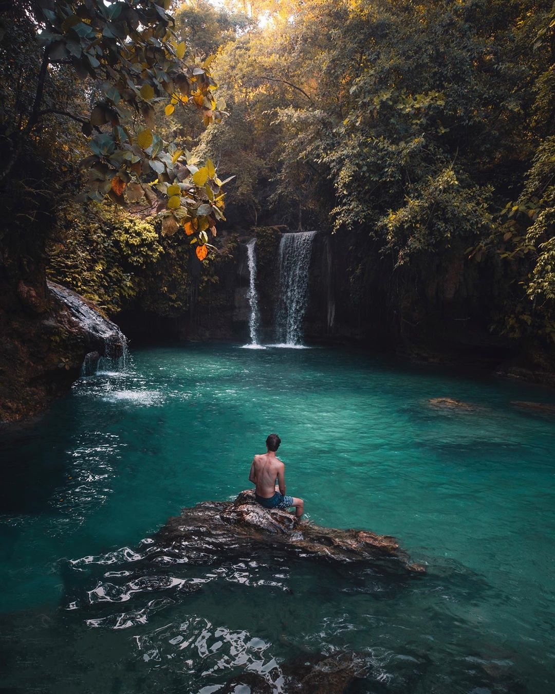 Emerald Colored Lagoons and Waterfalls