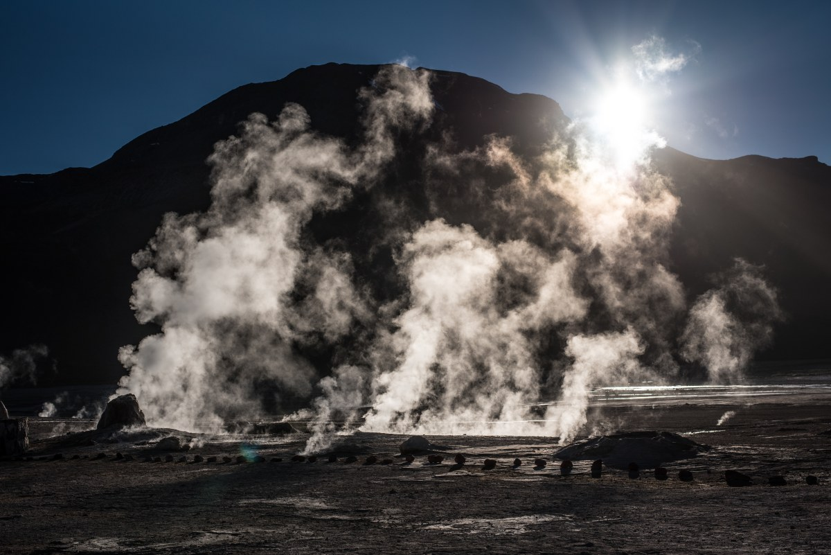 The Tatio Geysers are best enjoyed right after the sun rises
