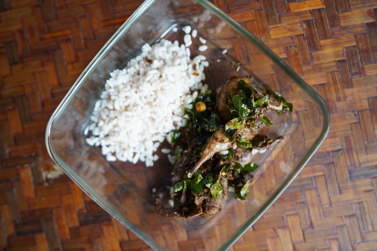 Quail and rice