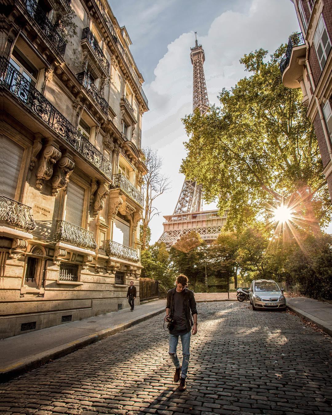 The cobblestoned streets
