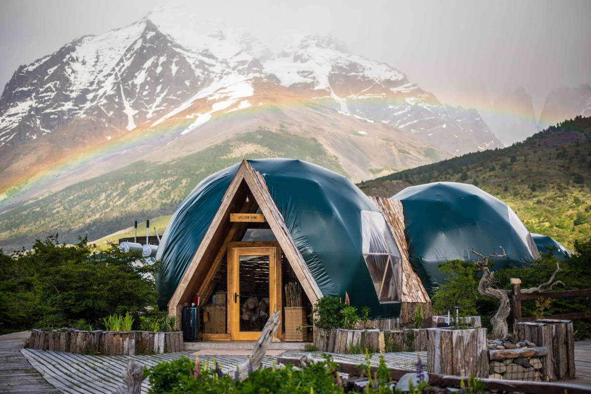 EcoCamp Patagonia, the geodesic hotel in which I stayed