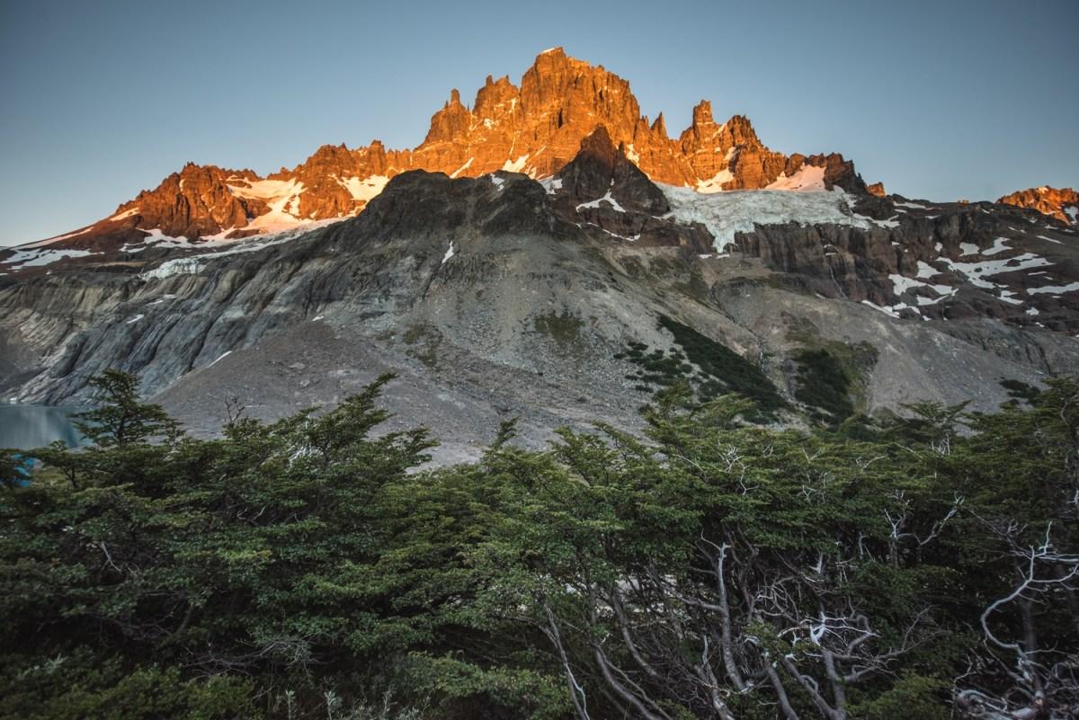 Sunrise on mt. Cerro Castillo