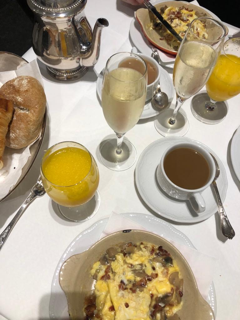 Our winning champagne breakfast