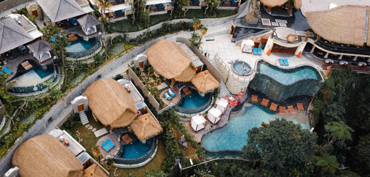 Aksari Resort from Above