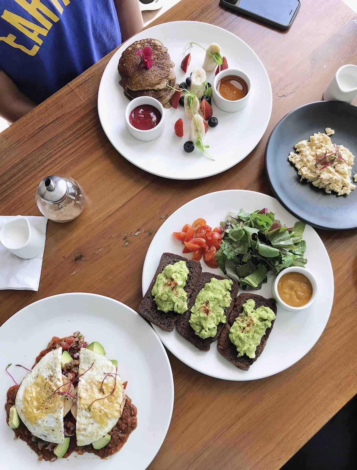 Healthy but delicious breakfast at the Real Coconut .