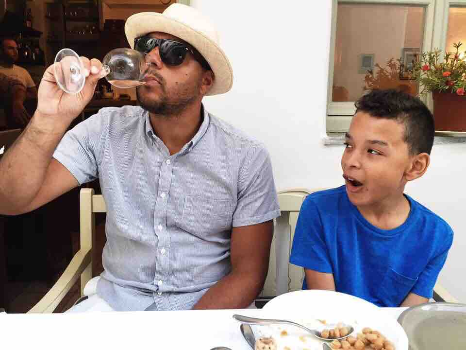 Jaden was amused by how many glasses of rose his parents drank at meals.