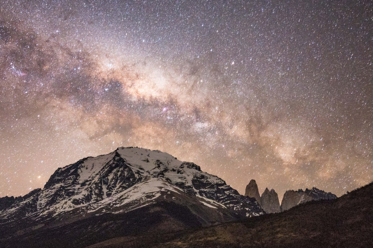 Torres del Paine National Park by night