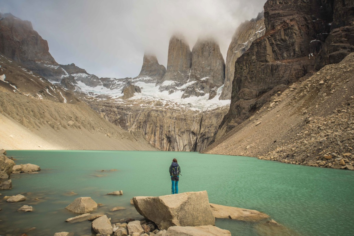 The towers\x27 base in Torres del Paine National Park
