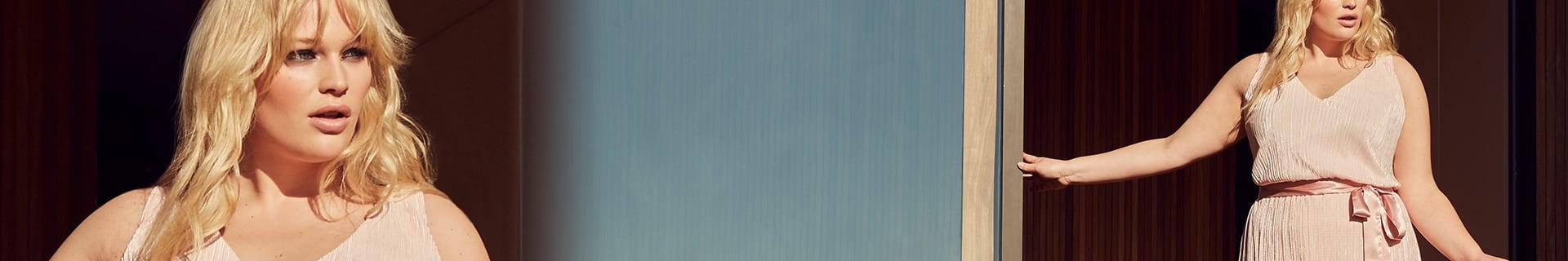 En vente exclusivement en taille plus à Addition Elle, la collection prêt-à-porter de Rachel Roy comporte des créations modernes, la greffe de Mademoiselle Roy, en tailles 14 à 24. Une esthétique forte, sexy, et tendance est au coeur de la nouvelle collection Curvy de Rachel Roy.