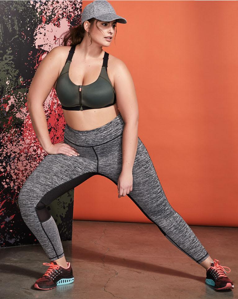 Woman in leggings and sportswear
