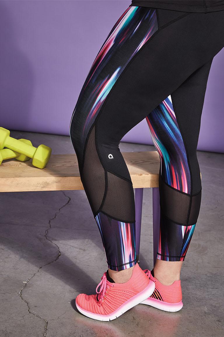 Woman wearing training leggings