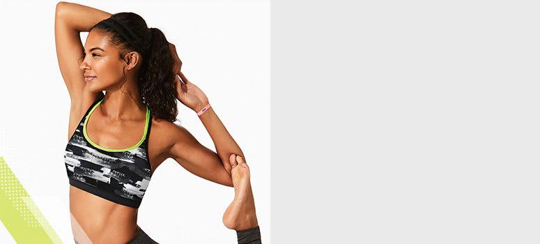 Woman wearing low impact sports bras