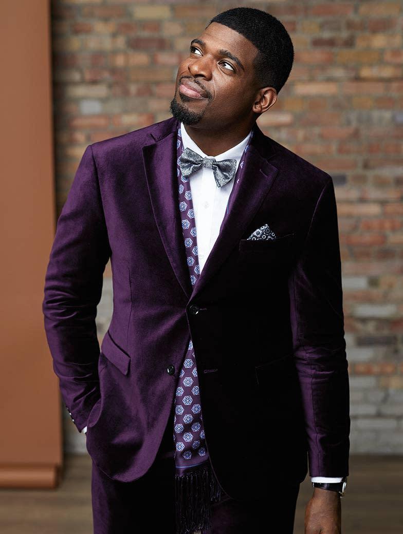 The Purple Velvet Suit (PK's favourite!)