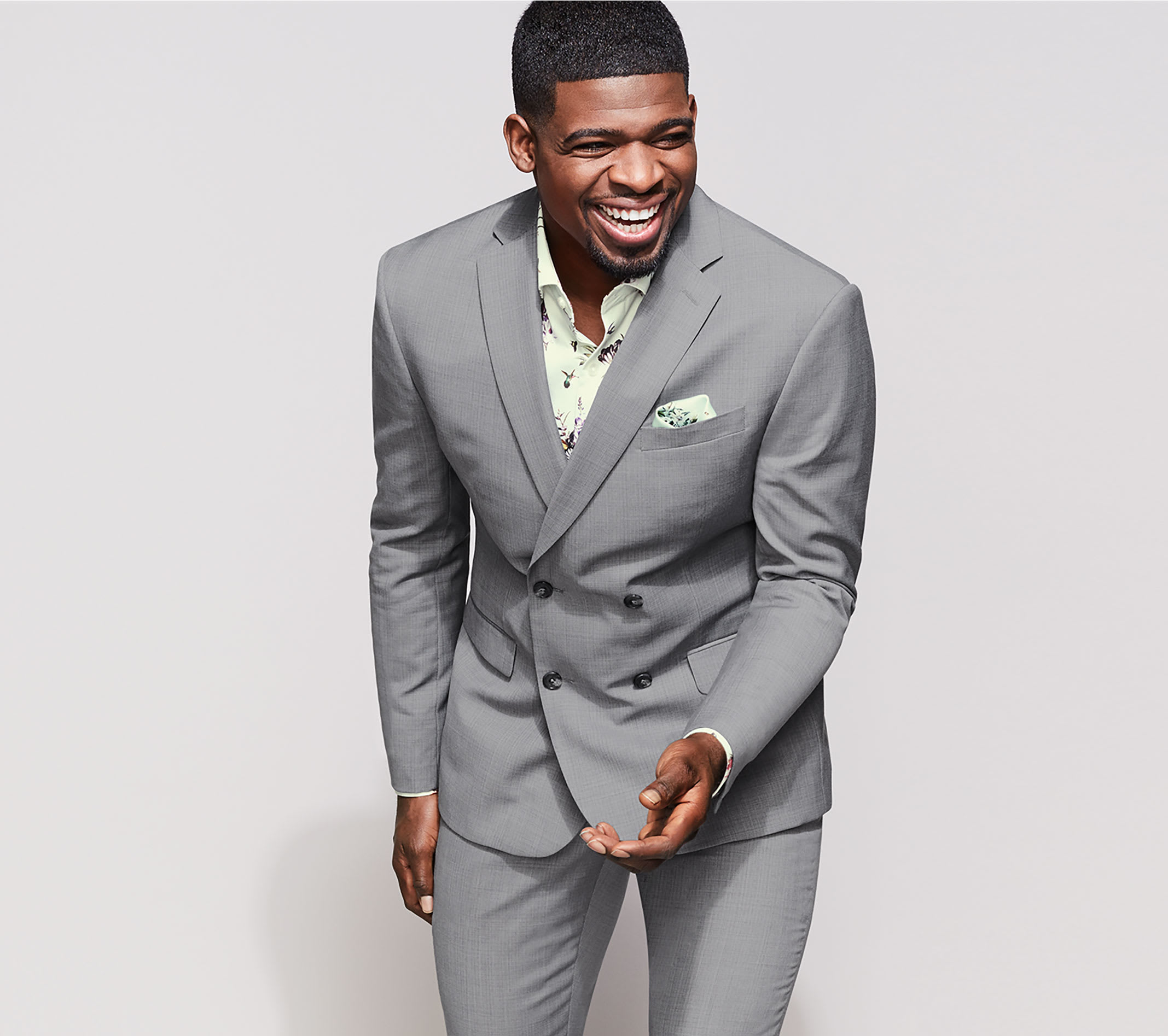 PK Subban Suits Slim Fit Gray suit