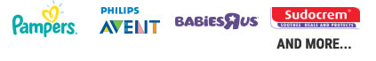 pampers, philips avent, babiesrus, sudocrem and more