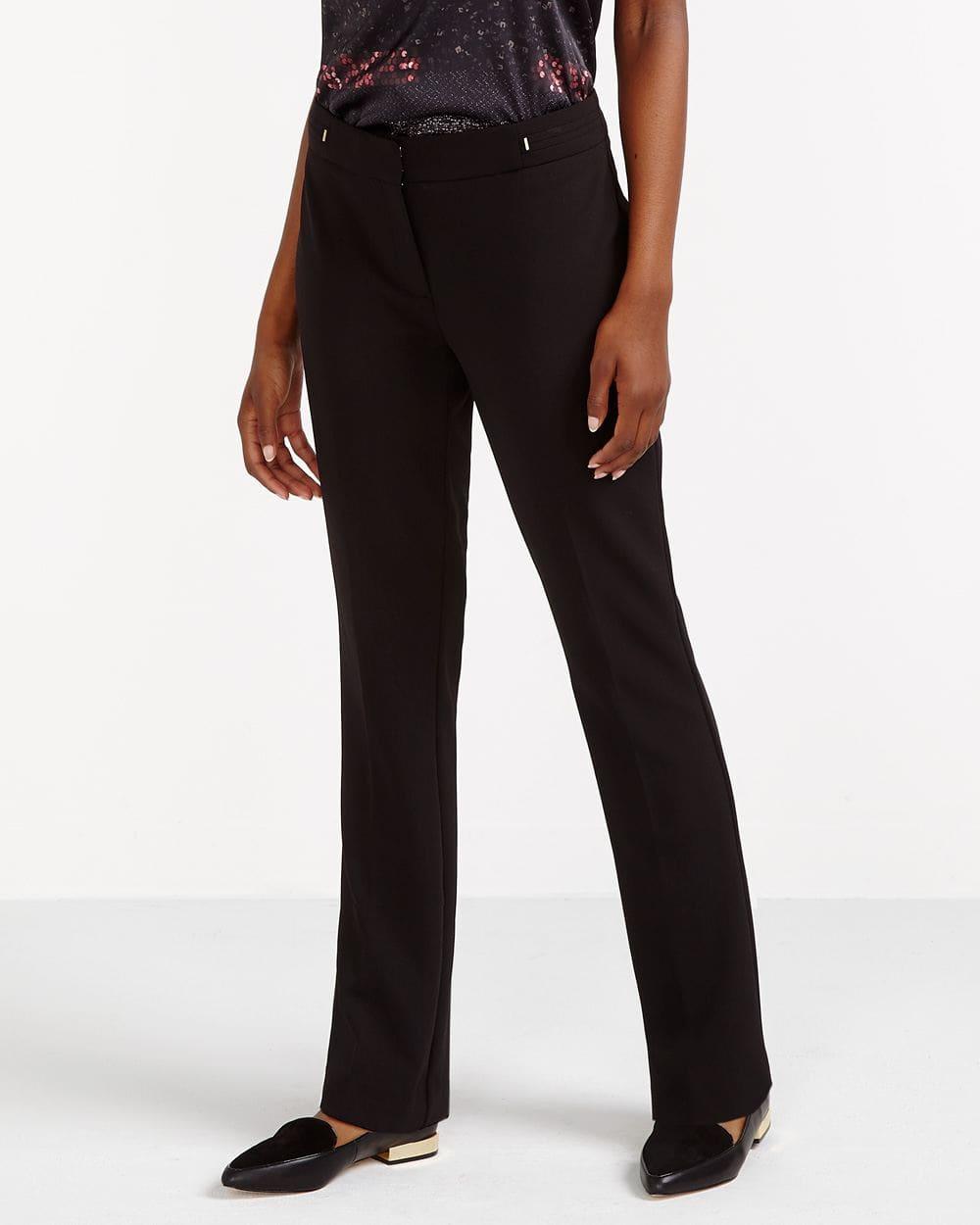 Solid Boot Cut Pants