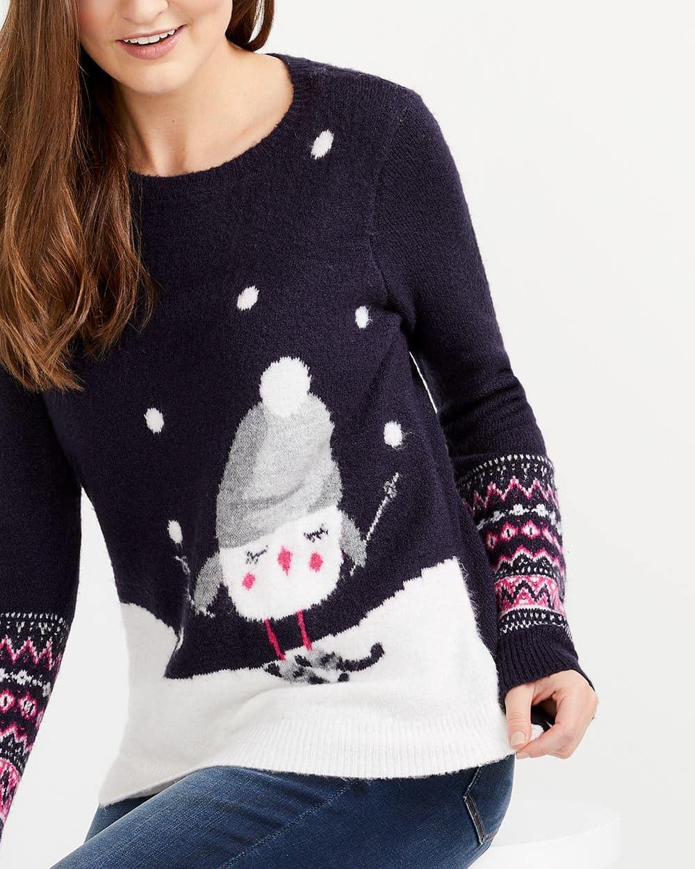 Bird Pattern Sweater