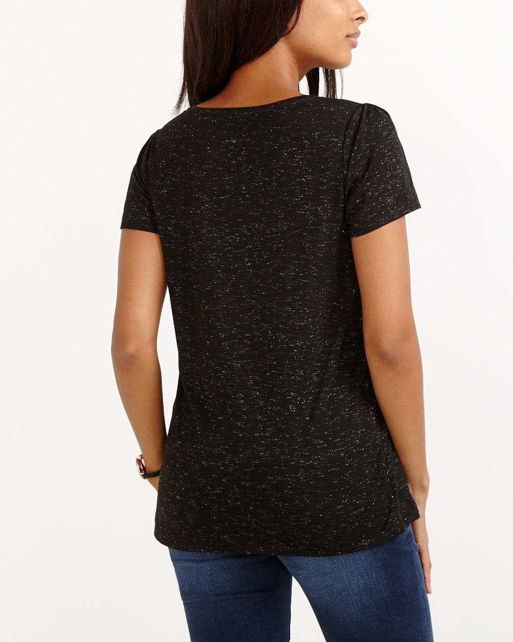 Pleated Sleeve Tee