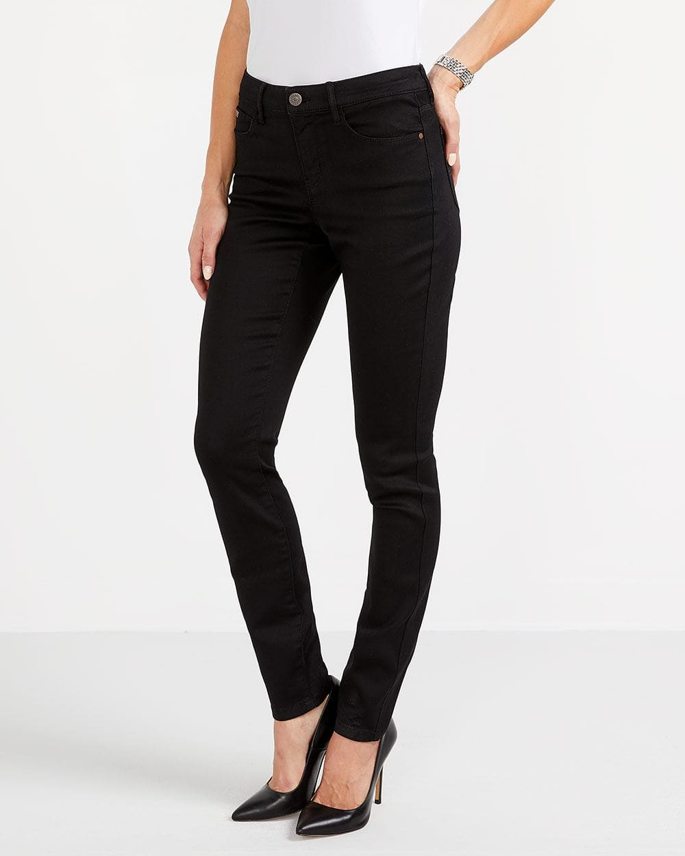 The Signature Soft Skinny Black Jeans