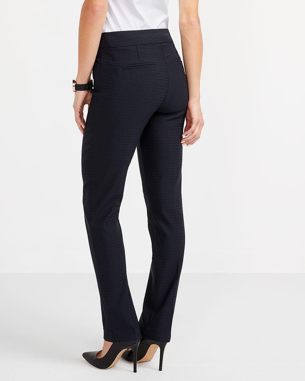 The Petite Iconic Straight Leg Herringbone Pants