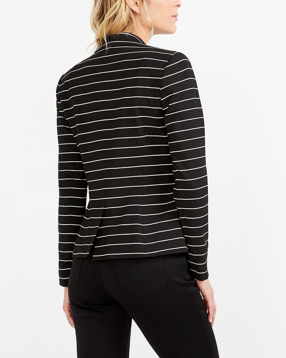 Veston tricoté rayé