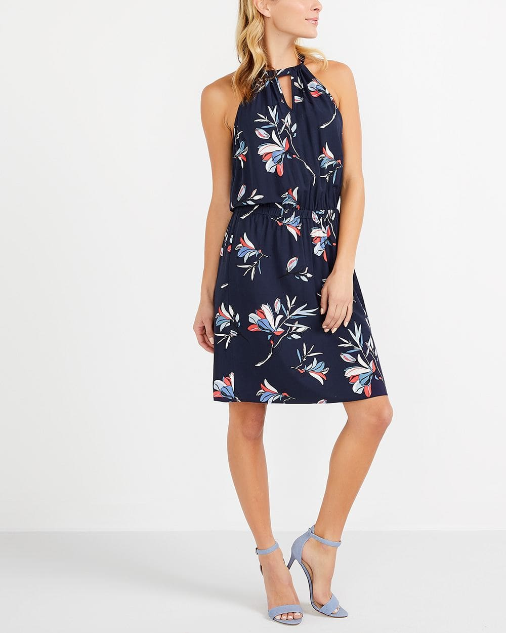 Halter Printed Dress