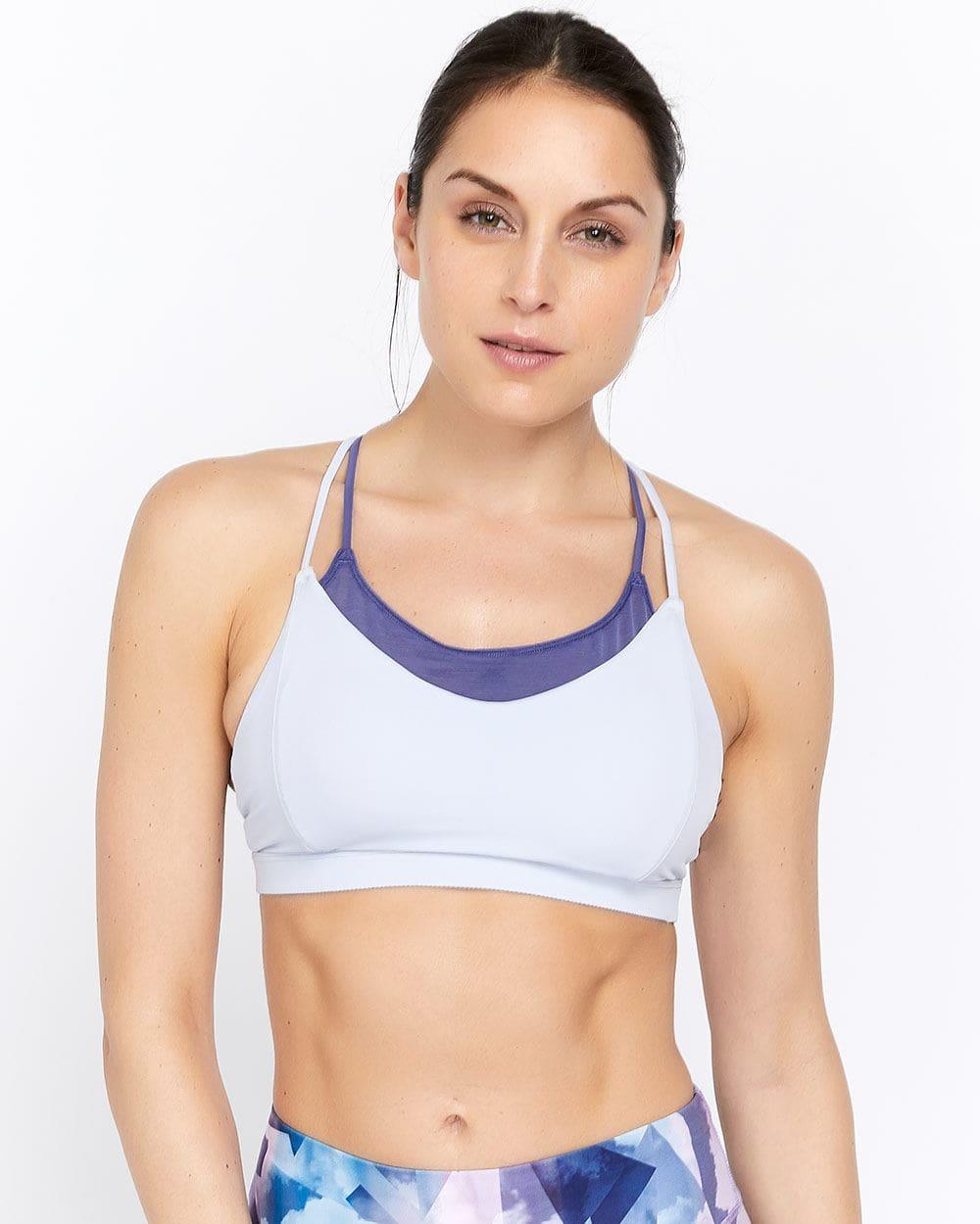 Bralette sportive à faible maintien avec doubles bretelles Hyba