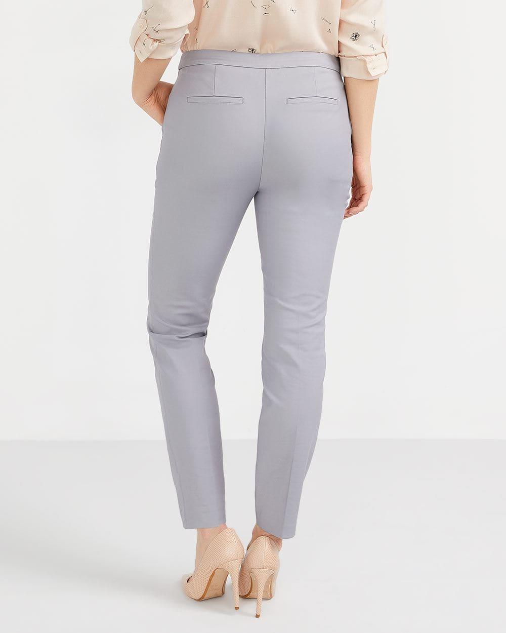 Pantalon à la cheville avec glissières Petite
