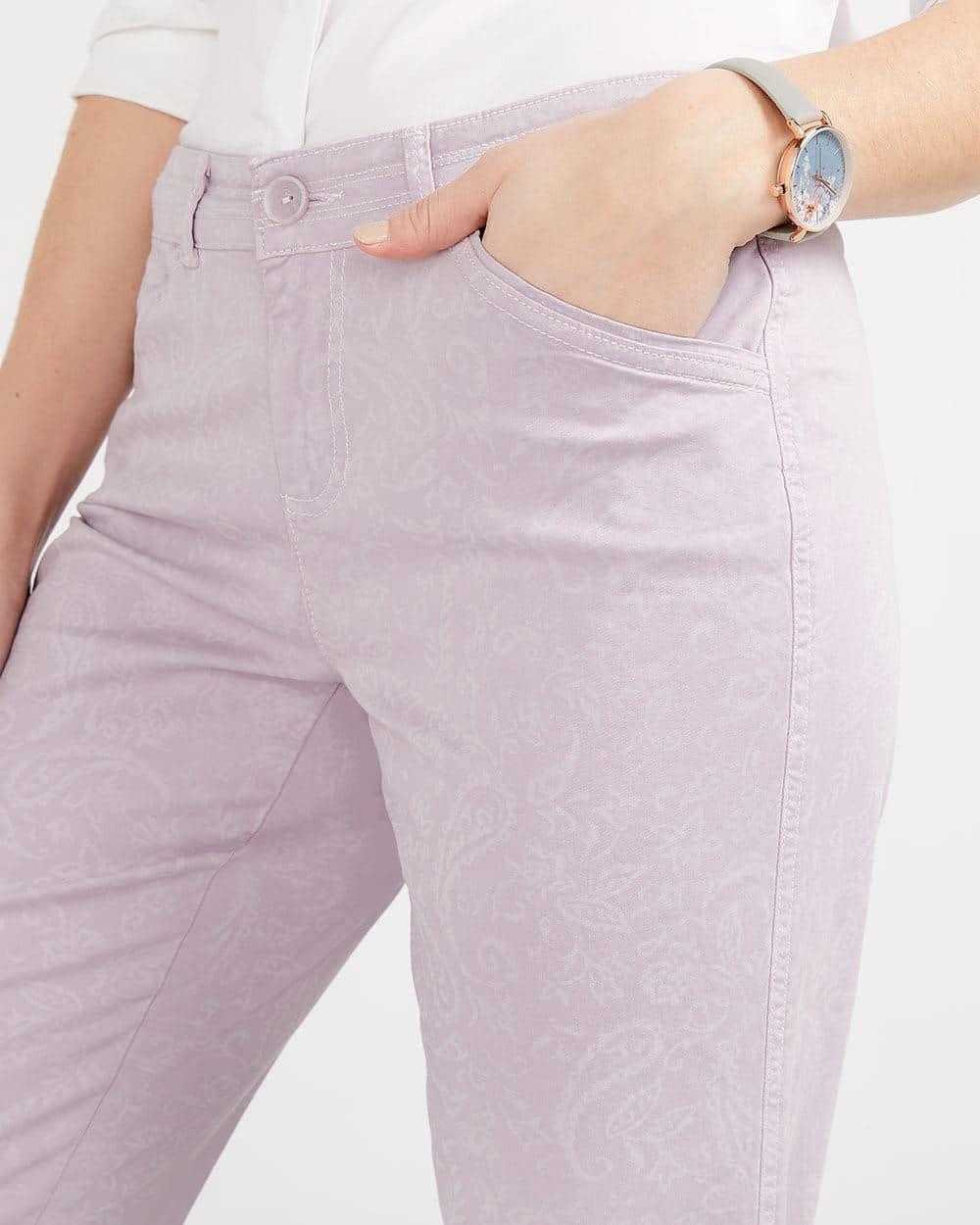 Laser Print Chino Pants