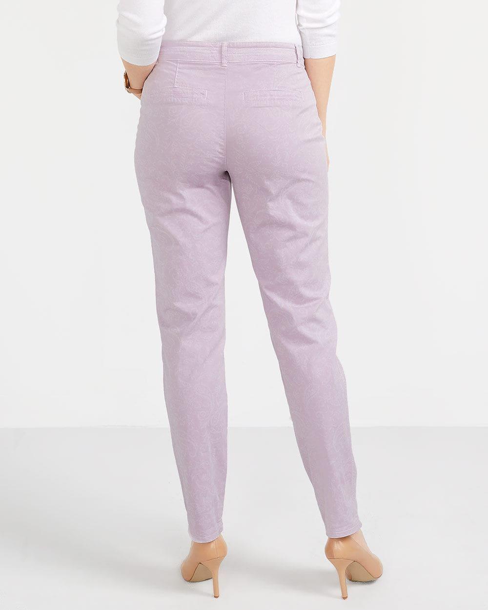 Petite Laser Print Chino Pants