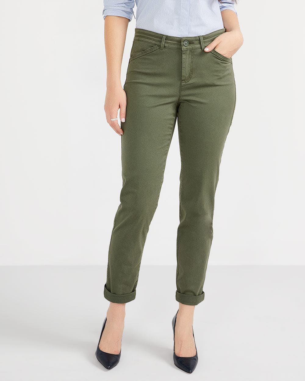 Tall Solid Slim Leg Chino Pants