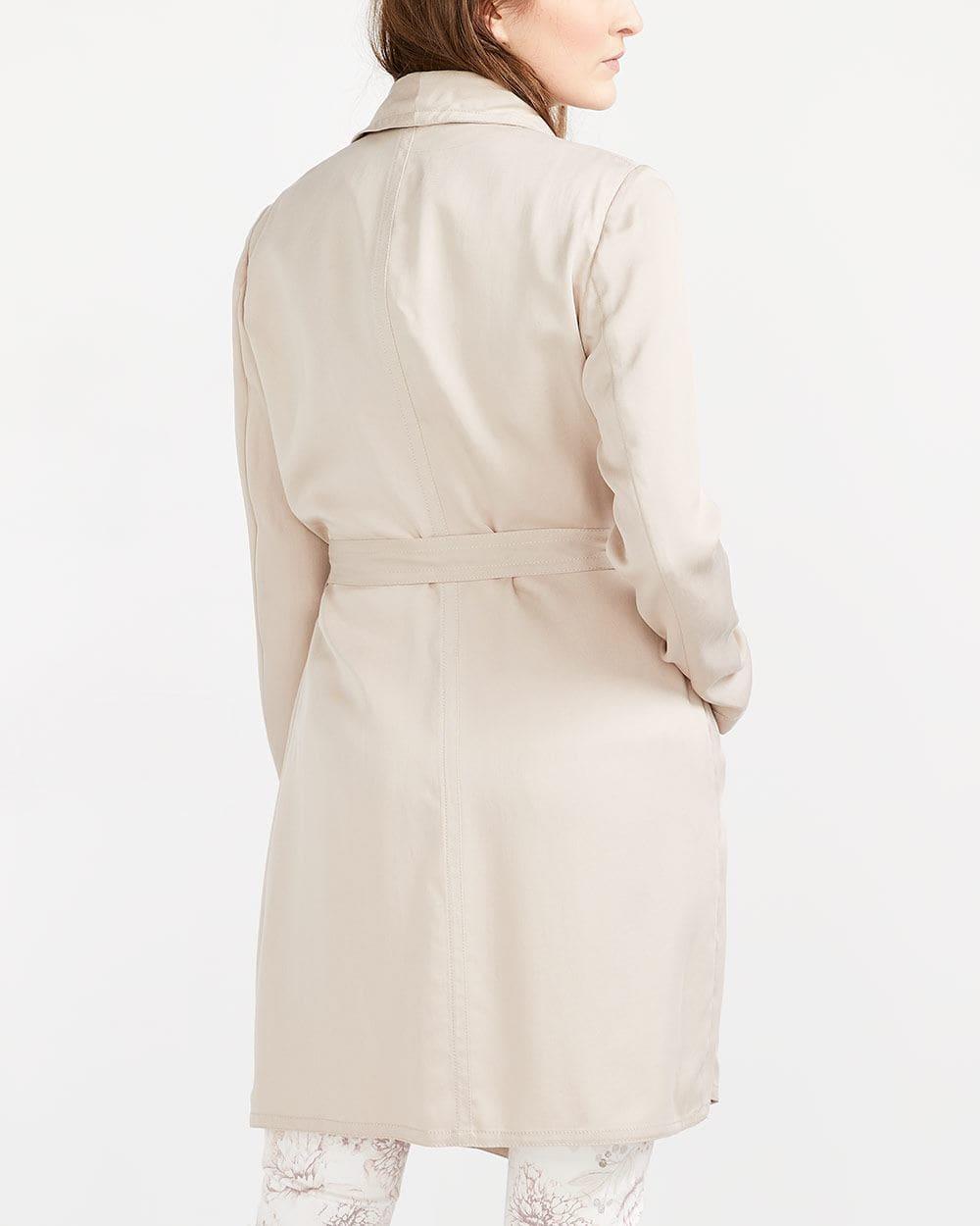 Asymmetric Collar Trench Coat