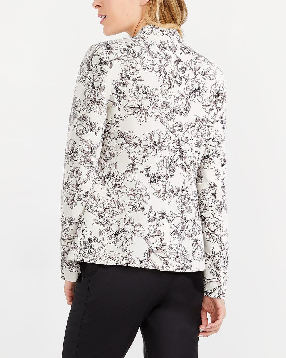 Floral Pattern Blazer
