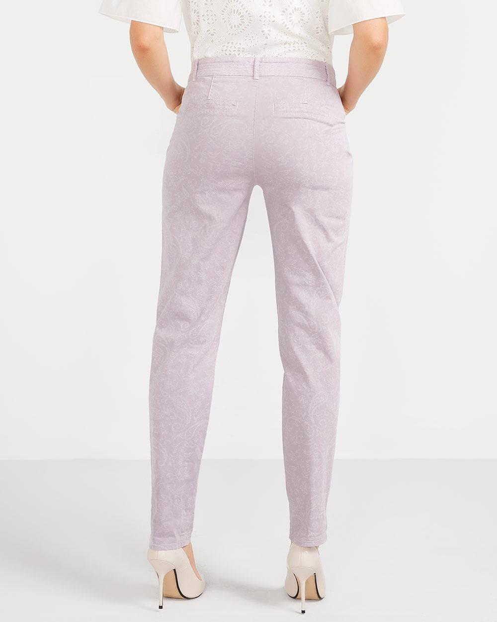 Tall Laser Print Chino Pants