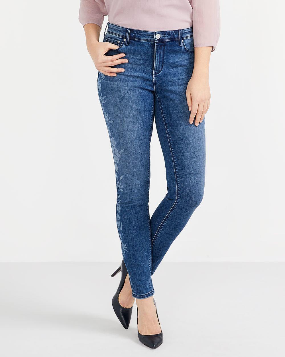 Jeans skinny imprimé